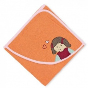 Sterntaler 16105 - Hooded Towel 80x80 cm Laura pumpkin