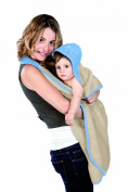 Baby Towel Maxi (Blue/ Sand)
