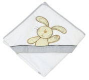 Be Be's Collection - hooded towel - bunny - grey 100x100