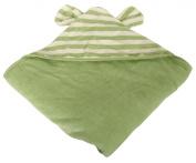 Silly Billyz 17550 Hooded Bath Towel / Robe Organic Cotton 128 x 130 cm Striped Sage / Plain