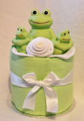 UNisex Mini Nappy Cake new Baby Gift - Bath time Frog Toy FREE Delivery