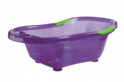 DBD Remond 306022 Baby Bathtub with Non-Slip Plug and Handles Translucent Purple / Green