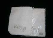 2off tiny feet baby wash mitt white baby word feet mottif