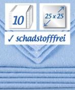 10 x Muslin Square Flanell Washcloths 25x25cm boy - blue - original by rezzu.®