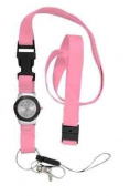 Nurse Integrated Lanyard Watch Pink