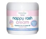 Cotton Tree Nappy Rash Cream, Contains zinc, castor oil