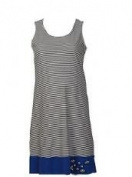 Designer Maternity Tunic Dress Blue Panel (Medium