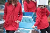 New Stylish Red Warm Winter Maternity Hoodie - UK Size 10