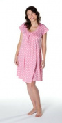 Pink Dottie Medium Maternity & Breastfeeding Nightie