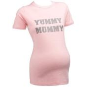 Yummy Mummy SHORT SLEEVE Slogan Maternity Black T-shirt