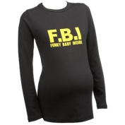 Funky Baby Inside LONG SLEEVE Funny Maternity Black T-shirt