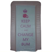 1Stopbabystore Genuine Pink Keep Calm & Change My Bum Baby Changing Mat - Soft Touch