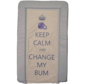 1Stopbabystore Genuine Blue Keep Calm & Change My Bum Baby Changing Mat - Soft Touch