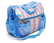 Baby Nappy Changing Bag Waterproof Multi Pockets Changing Mat Shoulder Strap