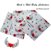 Rock´n´Roll Baby Flannel Sheets 80/80 cm -Nappies, bib, blanket