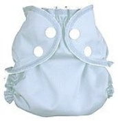 AppleCheeks Washable Nappy Wrap and Organic Cotton/Bamboo Insert 2 Piece Bundle - Forget-Me-Not Size 2