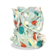 AppleCheeks Washable Nappy Wrap Cover with Organic Cotton/Bamboo Insert 2 Piece Bundle - 'Wild Child' Size 2