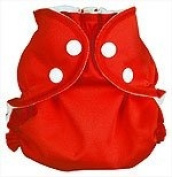 AppleCheeks Pocket Nappy, Nappy Cover Wrap and Organic Cotton/Bamboo Insert 2 Piece Bundle - Cherry Tomato Size 2