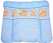 Blue happy teddy Soft changing mat