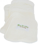 Ma Petite Chou - Bamboo Washable Wipes - Double thickness. Pack of 8. Made in Britain.