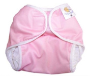 Nature Babies Classic Wrap Washable Nappy with Hook and loop Fastening - Baby Pink