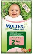 Moltex Nature No1 Eco Nappy Mini Size 2 (3-6 kg/6-13 lb)--Pack of 44 Nappies