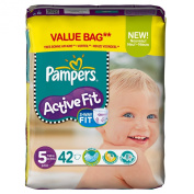 PAMPERS Active Fit Size 5 junior (11-25 kg) - Value pack 1 x 42 nappies