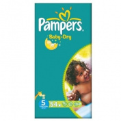 Pampers Baby Dry Size 5 (11-25kg) Large Pack Junior 2x54 per pack