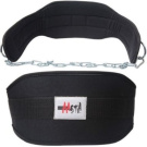 Neoprene Dipping Belt with Metal Chain Gym weight lifting Dip Training body work