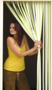 Slat type Door Curtain,Bug Blind,Fly Blind,Strip Blind-LIME GREEN & WHITE