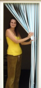 Tube Type Door Curtain,Bug Blind,Fly Blind,Strip Blind-SKY BLUE & WHITE