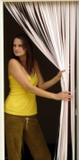 Slat type Door Curtain,Bug Blind,Fly Blind,Strip Blind-SOFT PINK & WHITE