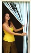 Slat type Door Curtain,Bug Blind,Fly Blind,Strip Blind-SKY BLUE & WHITE