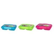 Sistema Lunch Collection Small Split Food Storage Container, 1.5 Cup, Assorted Colours