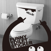 Black Monster Toilet Bathroom Stickers Wall Art Decal Removable DIY