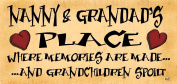 Wooden Funny Sign Wall Plaque Nanny and Granddads Place
