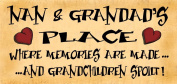 Wooden Funny Sign Wall Plaque Nan & Grandads Place Where Memories Are Made And Grandchildren Spoilt