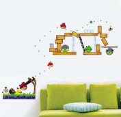 Removable Vinyl Wall Sticker Mural Decal Art - Angry Birds jump