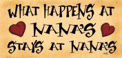 Wooden Funny Sign Wall Plaque What Happens At Nana's Stays At Nana's