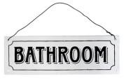 """Bathroom"" Metal Sign"