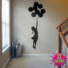 Banksy Balloon Girl - Wall Decal Sticker lounge living room bedroom