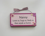 Nanny Humorous Wooden Keepsake wooden plaque