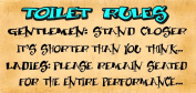 Wooden Funny Sign Wall Plaque Toilet Rules