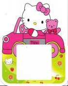 HELLO KITTY 'glow in the dark' WALL LIGHT SWITCH STICKER / COVER SURROUND