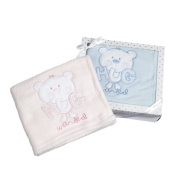 Gift Boxed Hug Wanted Fleece Baby Blanket - Blue