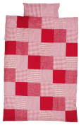 Taftan Patch Cheques Duvet Cover Set 100 x 135cm for Cot