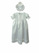 Baby Girls Full Length Christening Gown with Bonnet 6/12 Months