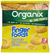 Organix Stage 2 From 7 Months Finger Foods Organic Sweetcorn Rings 20 g