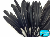Moonlight Feather, Duck Feathers - Black Duck Cochettes Loose Feathers (Bulk) - 1/2 Lb.