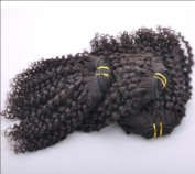 Mixed Length 14/2.3cm Brazilian Virgin Remy Human Hair Weave Weft Curly 3 Bundles 300 Grammes Unprocessed Natural Colour Extensions 100% Brazilian Human Hair Extensions